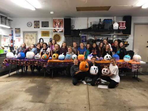 Pumpkin painting teens&seniors